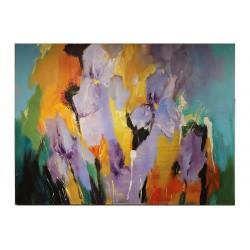 """Jelena Liba -Abstrakt """"Iirised"""" õlimaal 60x80"""